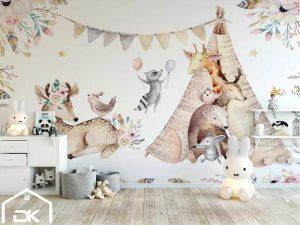 کاغذ دیواری اتاق خواب کودک